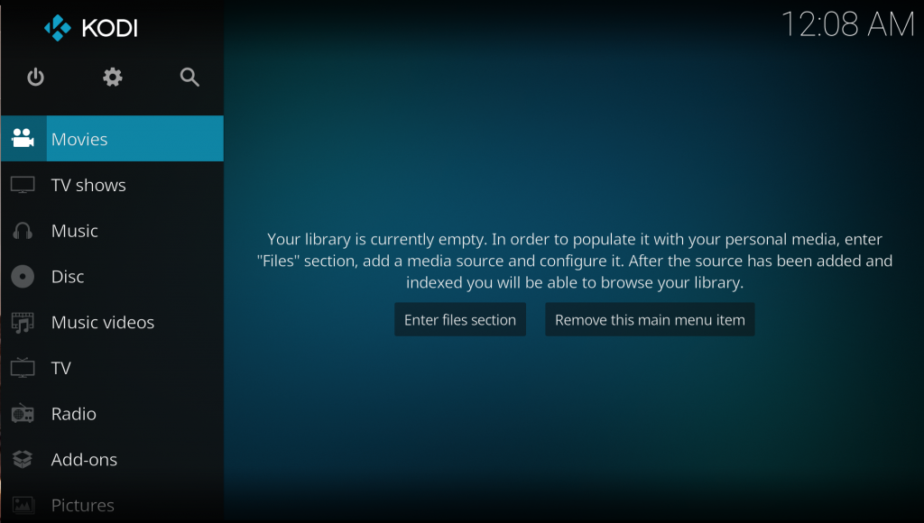 Step 4 A pop-up notification confirms Kodi is installed