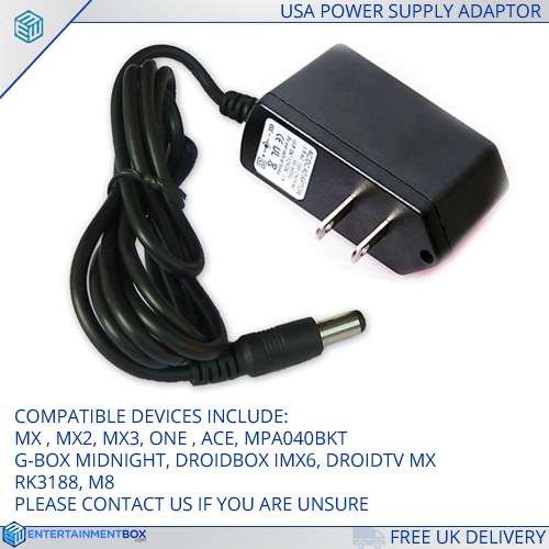 Replacement USA Power supply Adapter plug