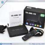 Latest Android powered TV box T8-AML-V3 UK stock Latest Smart TV box