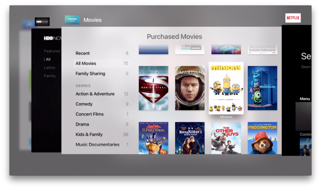 New Apple TV 4 app switcher