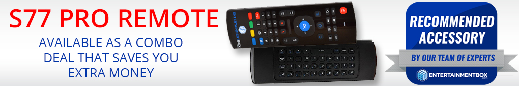 S77 PRO REMOTE EBox T8 AML V3 S Smart Kodi TV Box