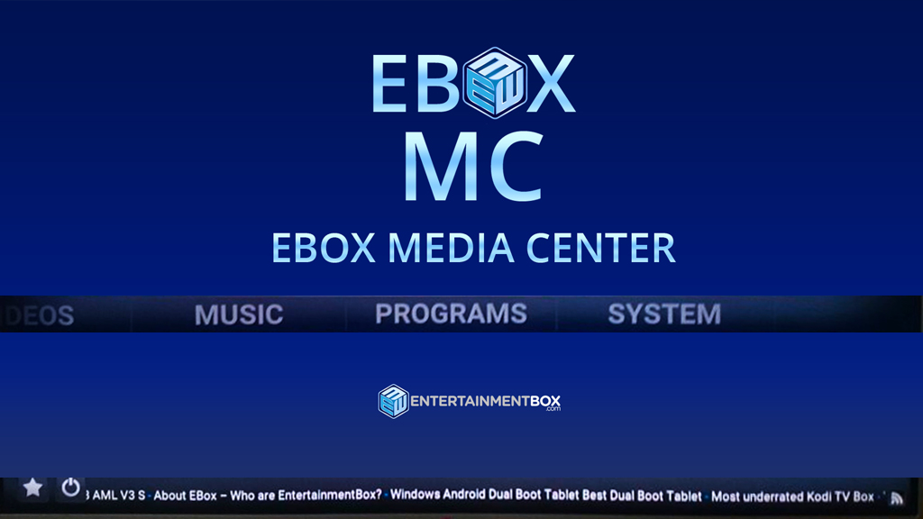 EBOX MC - EBOX MEDIA CENTER NOW AVAILABLE