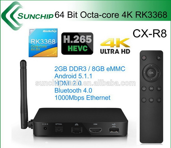 Sunchip CX-R8 TV Box Android Lollipop 5.1.1 custom firmware Download