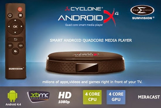 Sumvision Cyclone Android X4 TV Box Custom KitKat 4.4.2 Firmware Download