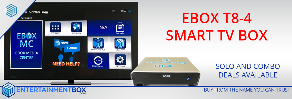 EBox T8 V4 TV Box Latest Kodi Smart TV Box T8-4, stream tv box