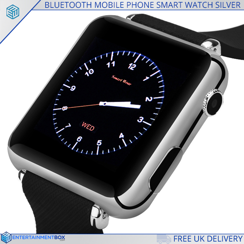BLUETOOTH MOBILE PHONE SMART WATCH SILVER