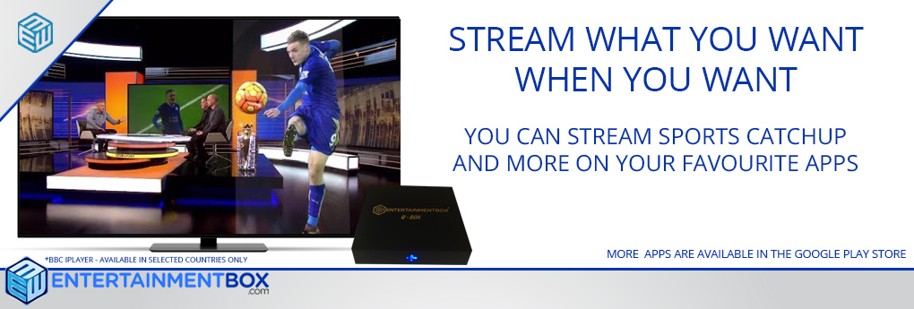 STREAM SPORTS Q BOX ANDROID TV BOX EBox® Q Box Ultra Compact Smart Kodi TV Box including OTA firmware updates