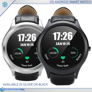 D5 Android Smart Watch, Bluetooth, 3G SIM, Google Play, Pedometer, Heart Rate, GPS