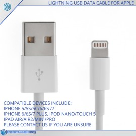Lightning USB Data Cable for Apple Iphone Ipad Ipod Cable