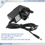 Replacement UK Power supply Adapter plug T8, M5, T8-AML-V2, IceCube2, CS968, M5-S805