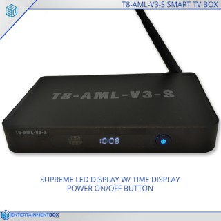 EBox® T8 V3s Latest TV Box, Fastest TV Box, 16GB, S812, Gigabit Ethernet, Dual Band WIFI, 4K, This is the Best TV Box ever