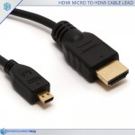 HDMI micro to HDMI cable lead 1m