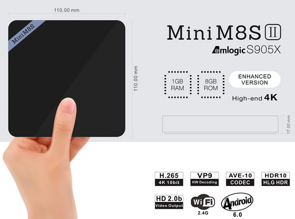 Mini M8S II TV Box Android Marshmallow 6.0 firmware