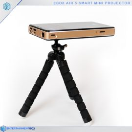 Pocket projector on stand