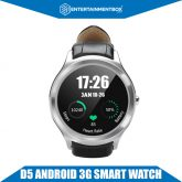 D5 Android Smart Watch, Bluetooth, 3G SIM, Google Play, Pedometer,