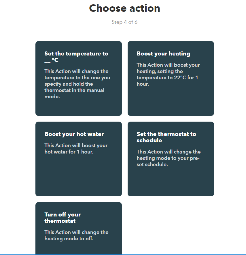 Step 4-6 choose Action