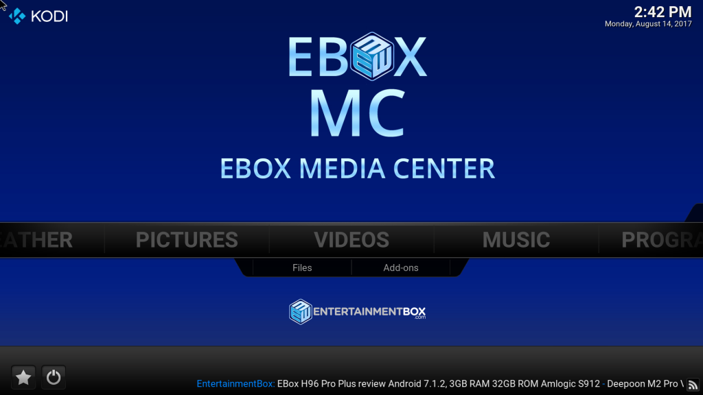 EBMC based on Kodi 17.3