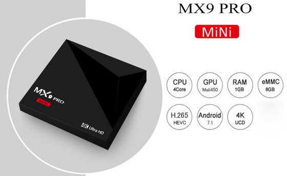 Latest MX9 Pro Mini TV Box Firmware Download Android Nougat 7.1.2