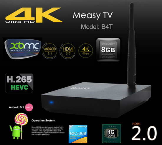 Latest Measy B4T TV Box Firmware Download Android 5.1.1
