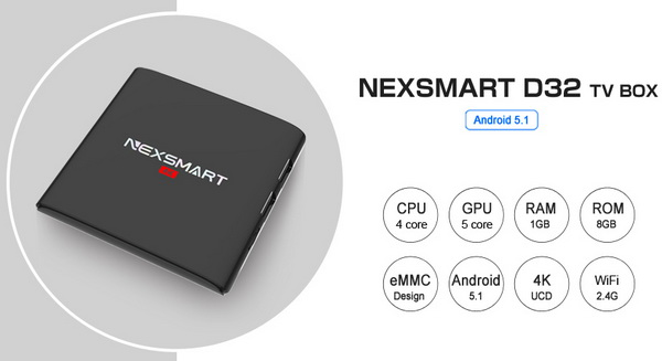Latest Nexsmart D32 TV Box Firmware Download Android Marshmallow 6.0