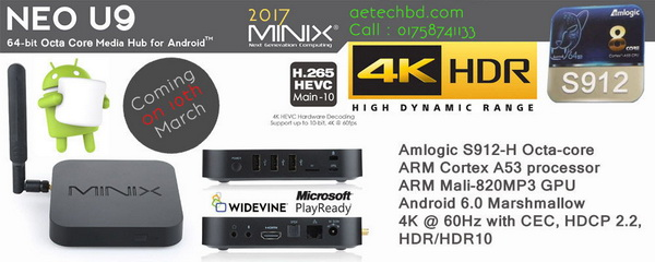 Latest Minix Neo U9-H TV Box firmware Download Android 6.0.1