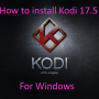 Kodi 17.5 for windows Splash-min