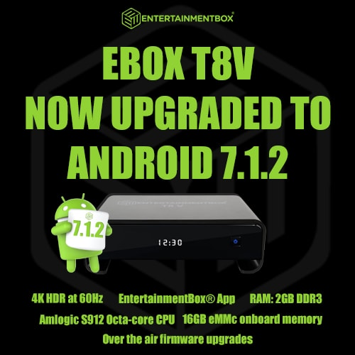 Welcome Android 7.1.2 update for the T8 V box
