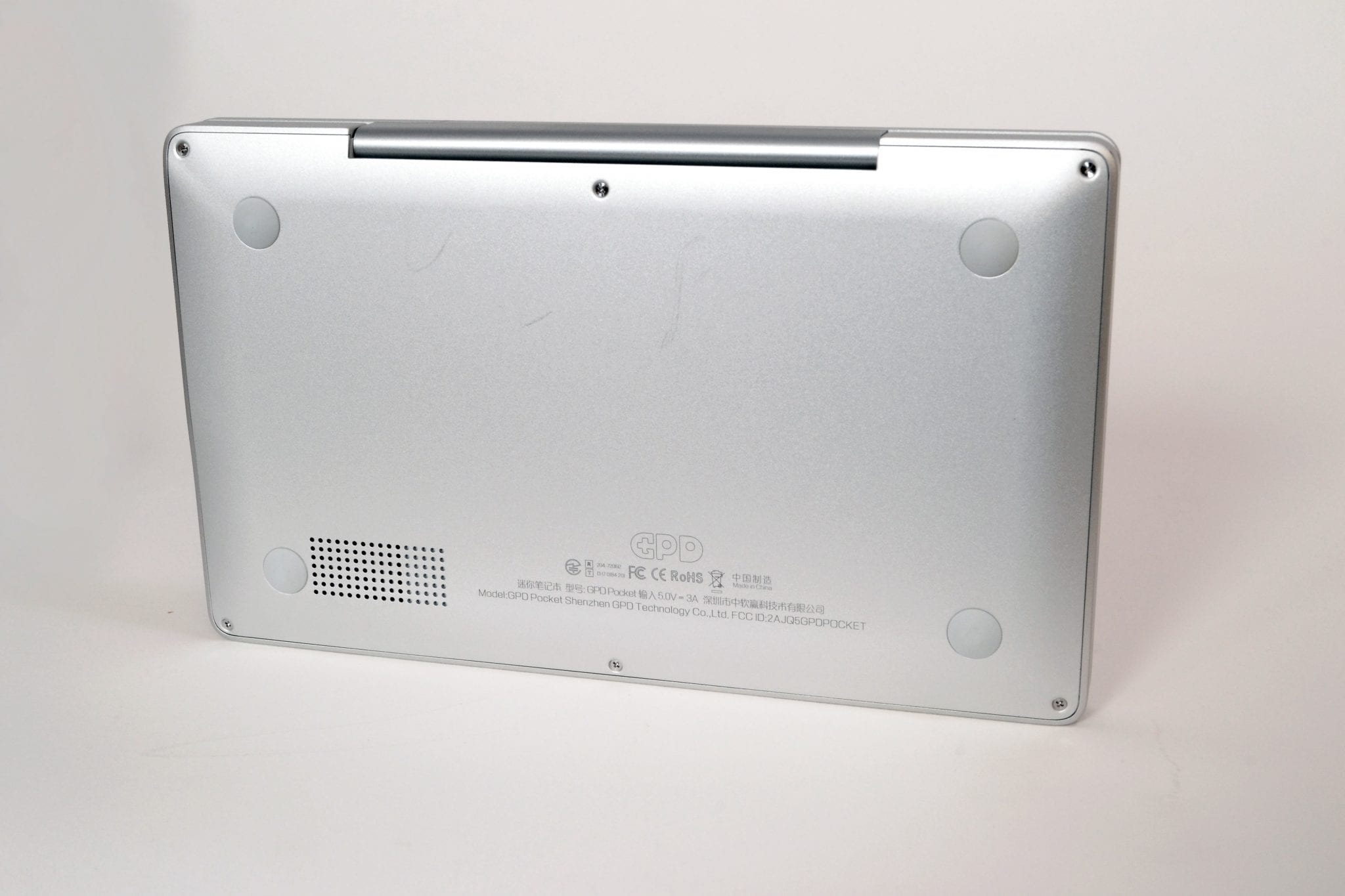 GPD Pocket Mini PC back view