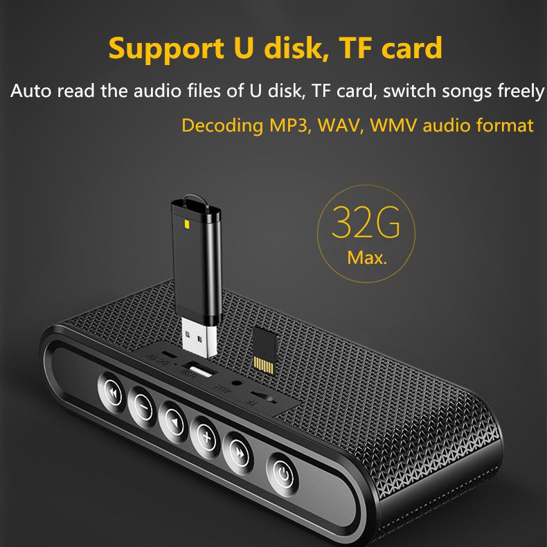 Supports SD cards and USB drives