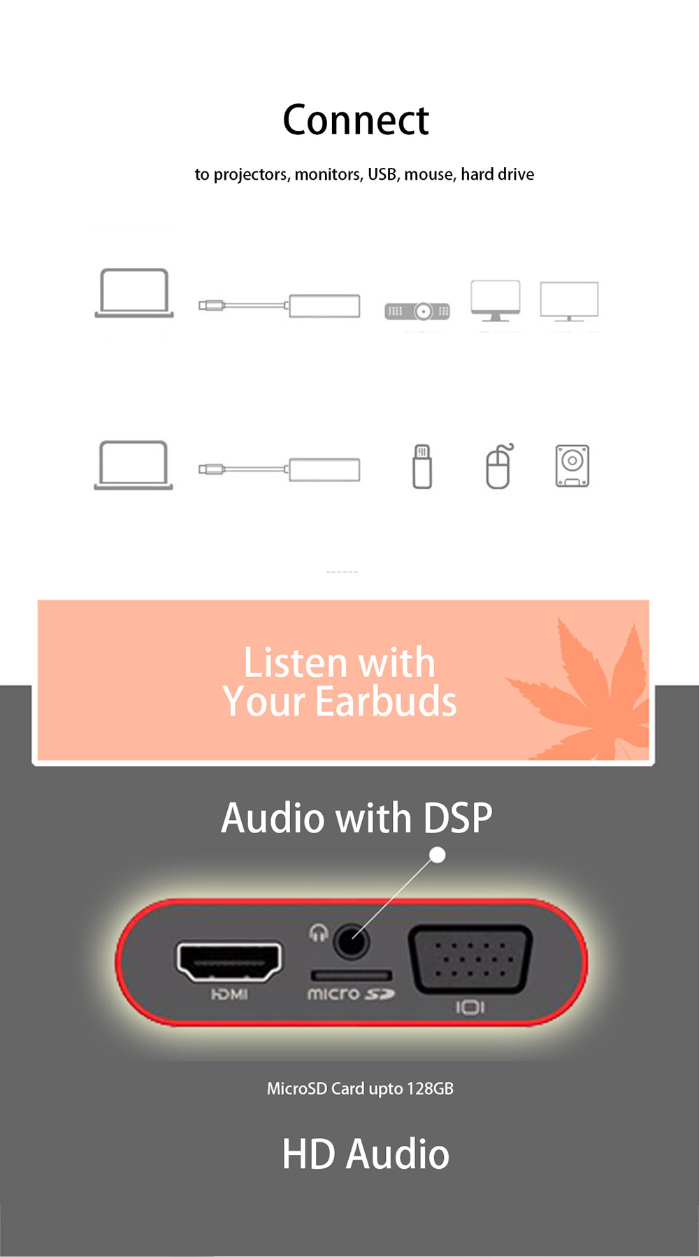 Listen with Earbuds