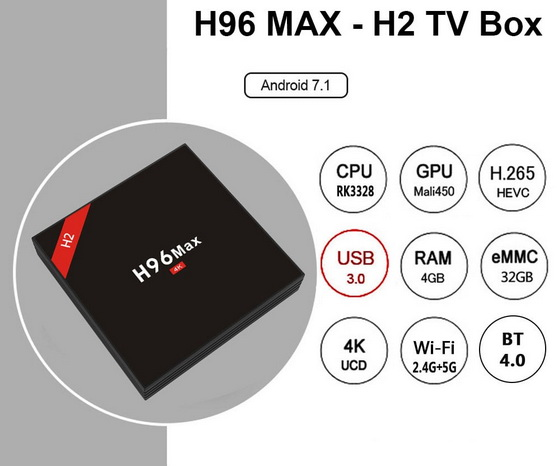 Latest H96 Max – H2 TV Box Firmware Download Nougat 7 1 2