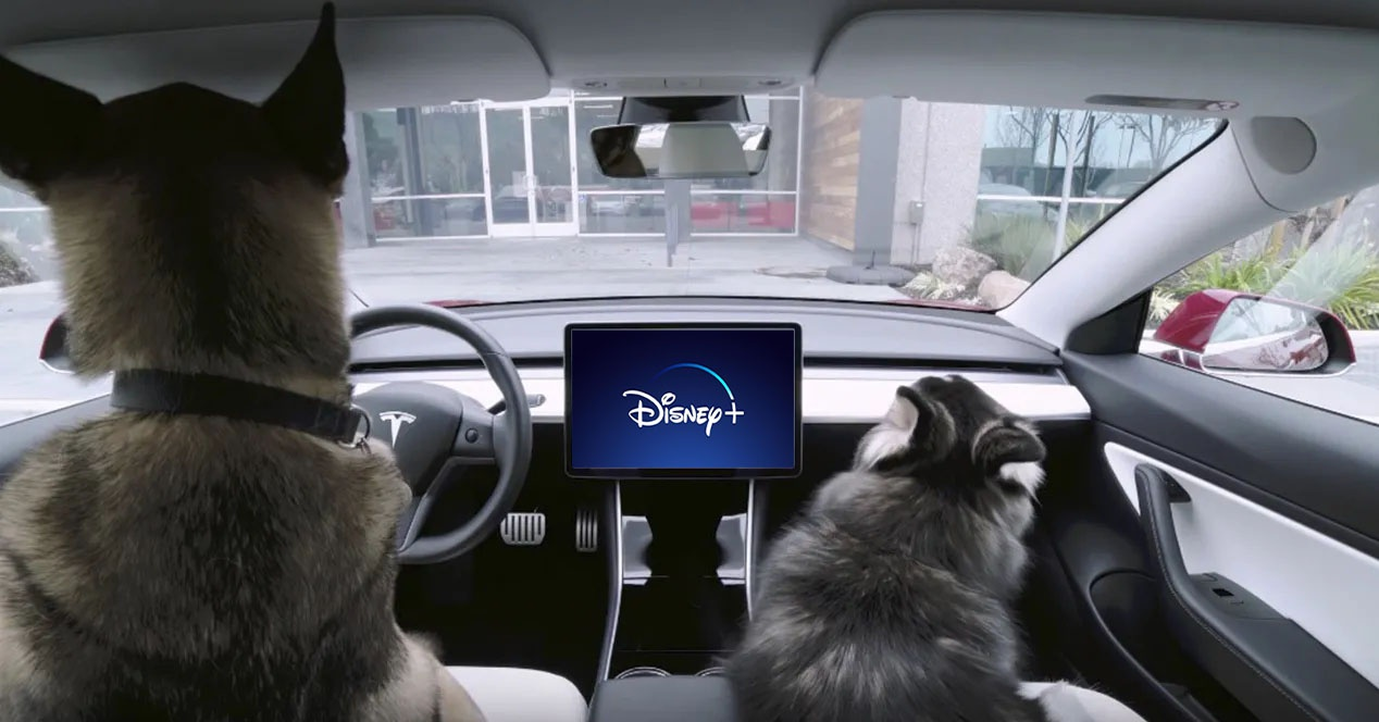 Disney + movies and series will also arrive … at the Tesla