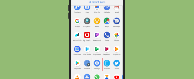 Android 8 All Settings