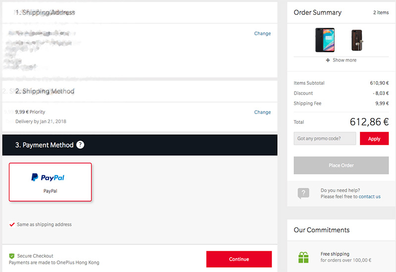 OnePlus Credit Cards Payments