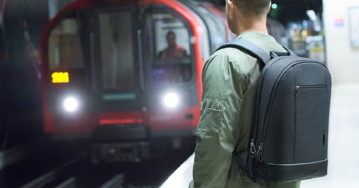 This backpack is super technological and you really want to have