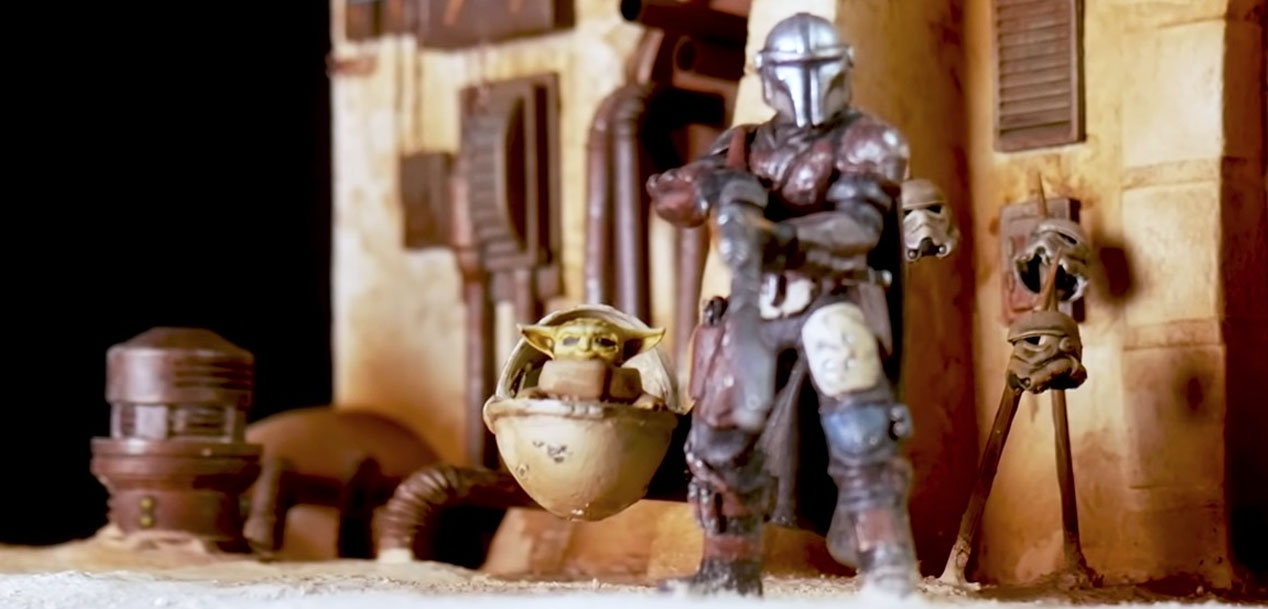 This miniature recreation of a Mandalorian scene will leave you hypnotized