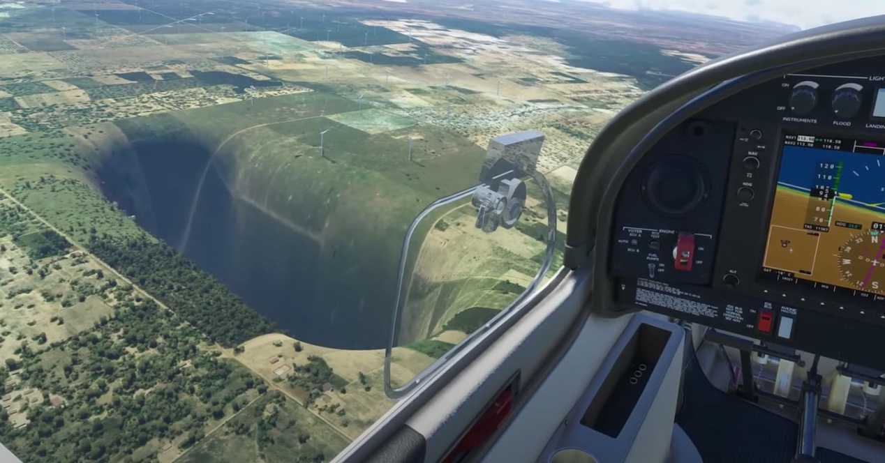 Microsoft Flight Simulator becomes Interstellar because of this glitch