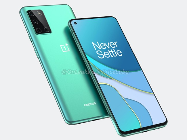 OnePlus 8T phone in navy green