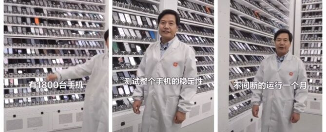 Lei Jun, CEO of Xiaomi, in the test lab