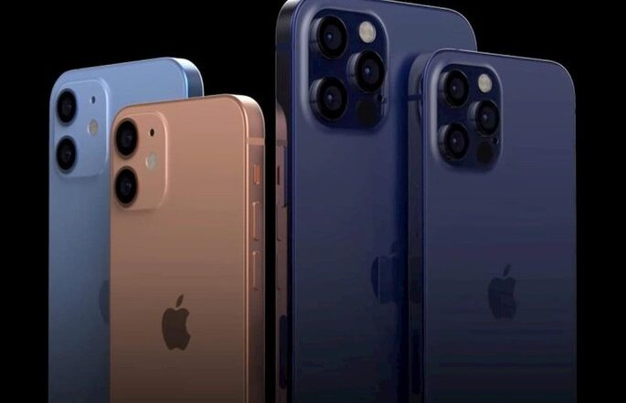 Concepts of the four new iPhone 12