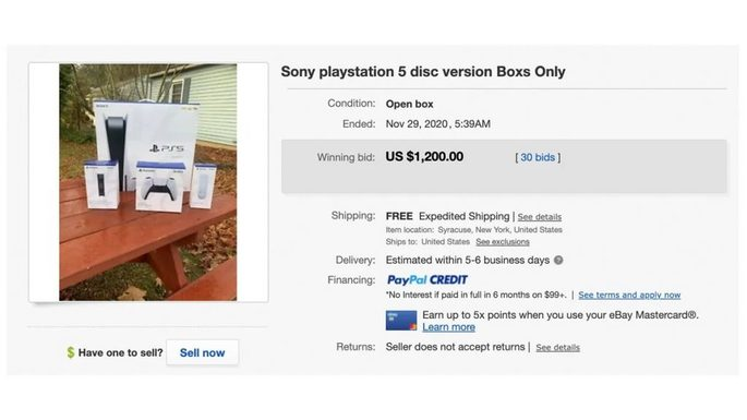 PS5: empty console boxes on sale on eBay for thousands of dollars