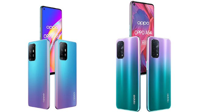 OPPO A94 and OPPO A54