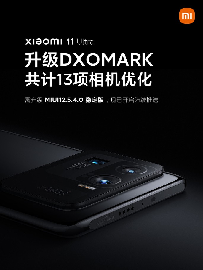 """Xiaomi Mi 11 Ultra received the MIUI version that gave it the title of """"best camera"""" at DxOMark"""
